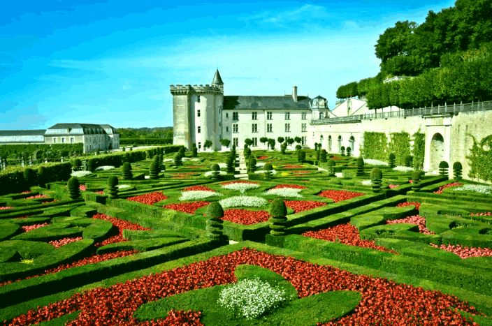 taman labirin Villandry Gardens Perancis press