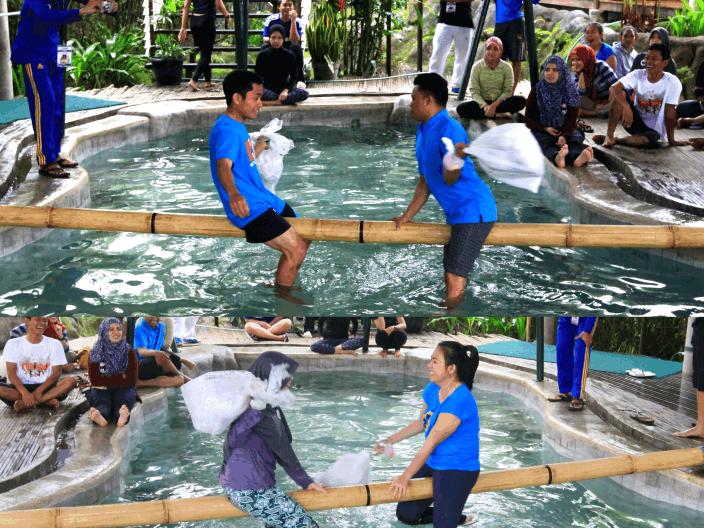 Villa Air Bandung penginapan yang Keren kolam renang