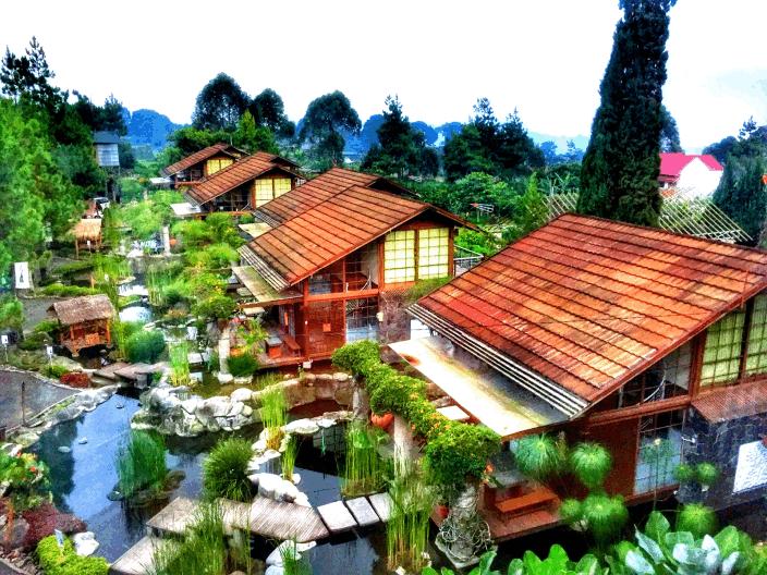 Villa Air Bandung penginapan yang design jepang,