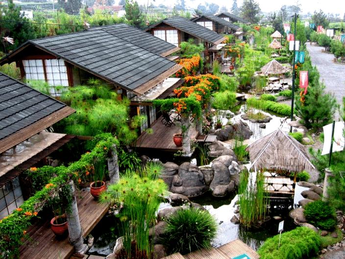 Villa Air Bandung penginapan yang design jepang