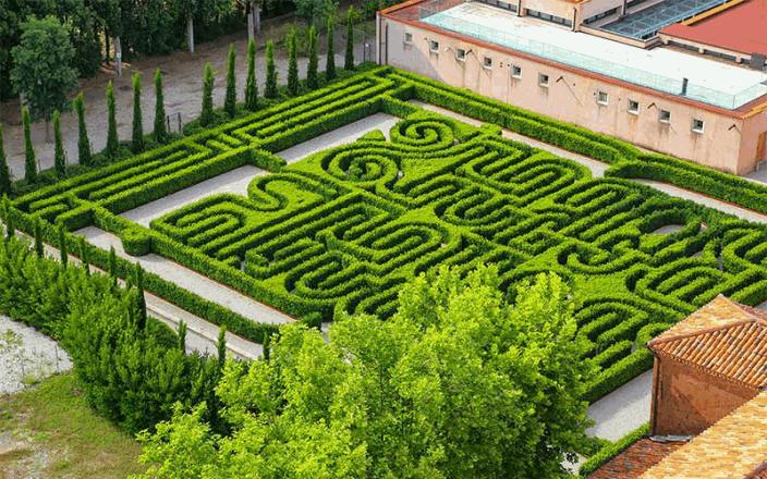 taman labirin Borges Labyrinth Italia